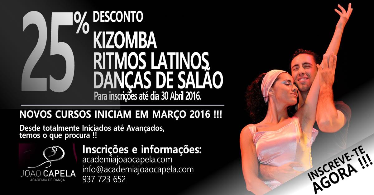 Novos Cursos Kizomba, Ritmos Latinos Salsa Bachata e Danças de Salão em Barcelos