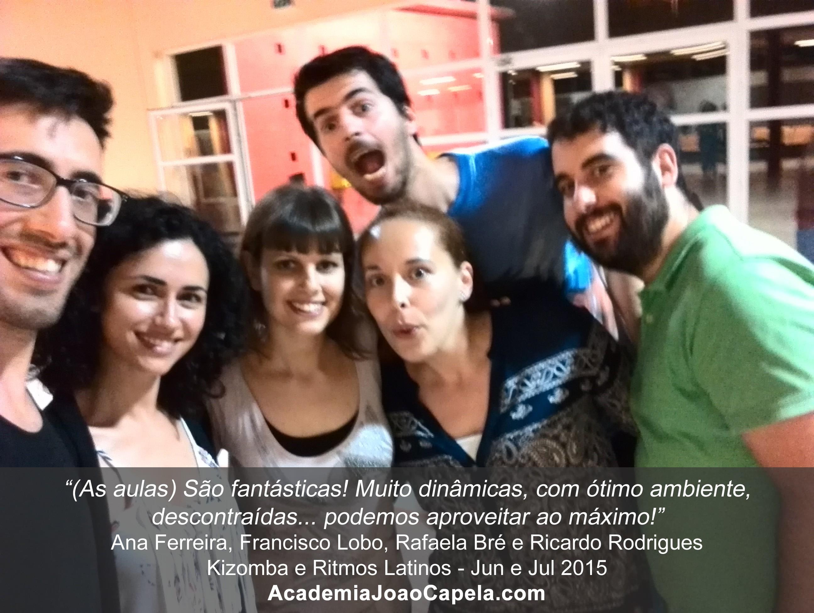 Testemunho Ana Ferreira, Rafaela Bré, franscio Lobo e Ricardo Rodrigues sobre as aulas de dança da Academia João Capela