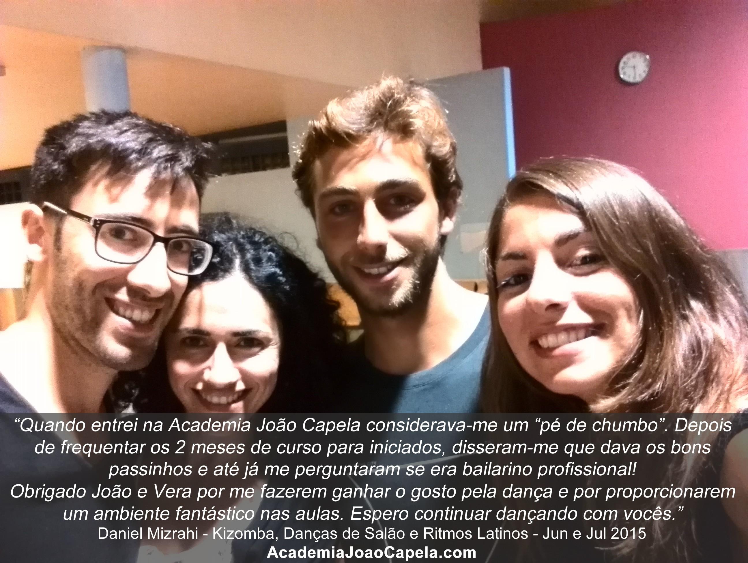 Testemunho Daniel Mizrahi sobre as aulas de dança da Academia João Capela