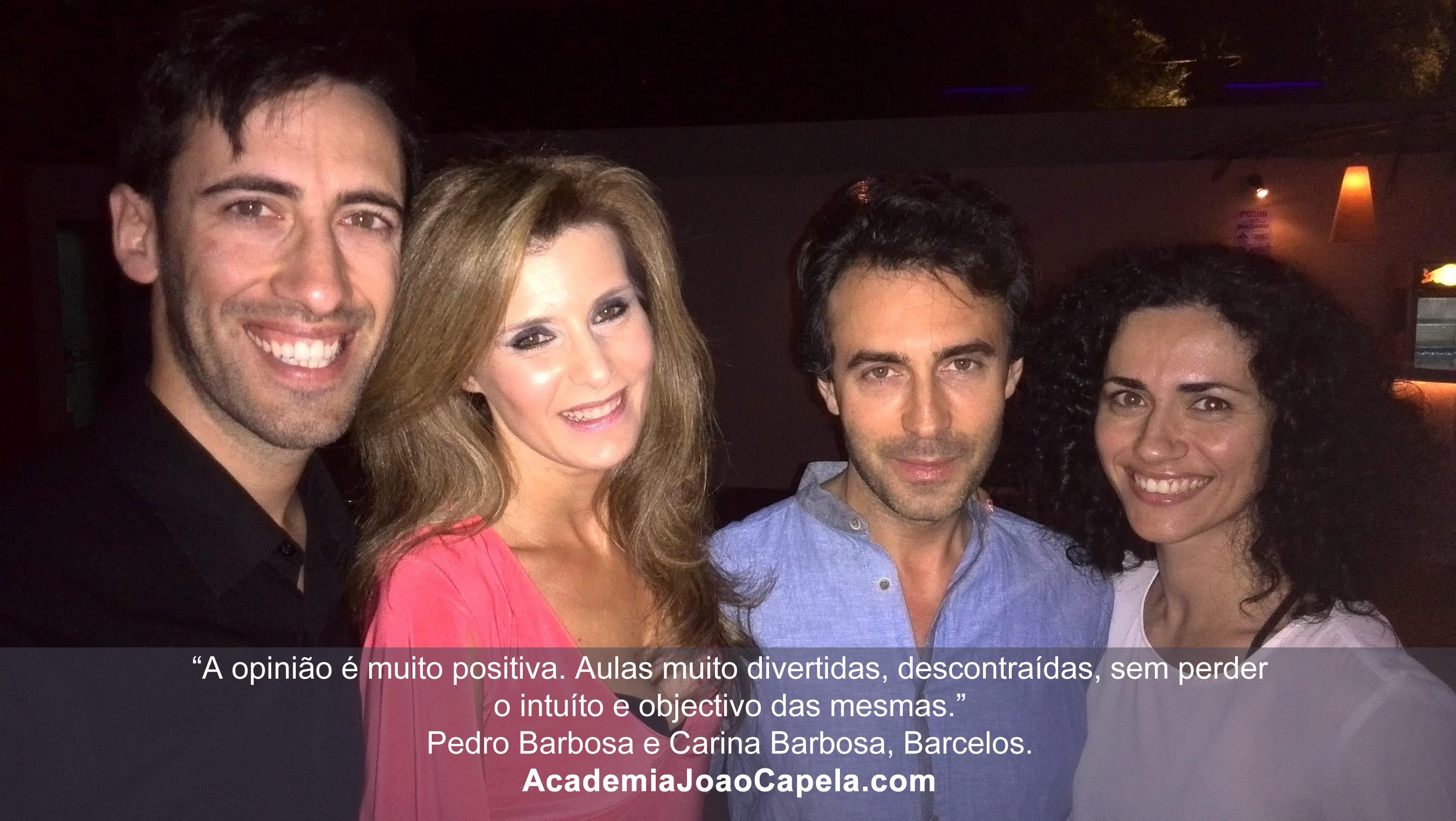Testemunho Pedro Barbosa e Carina Barbosa sobre as aulas de dança da academia João Capela em Barcelos