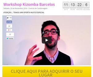 Workshop de Kizomba 29 Novembro Barcelos