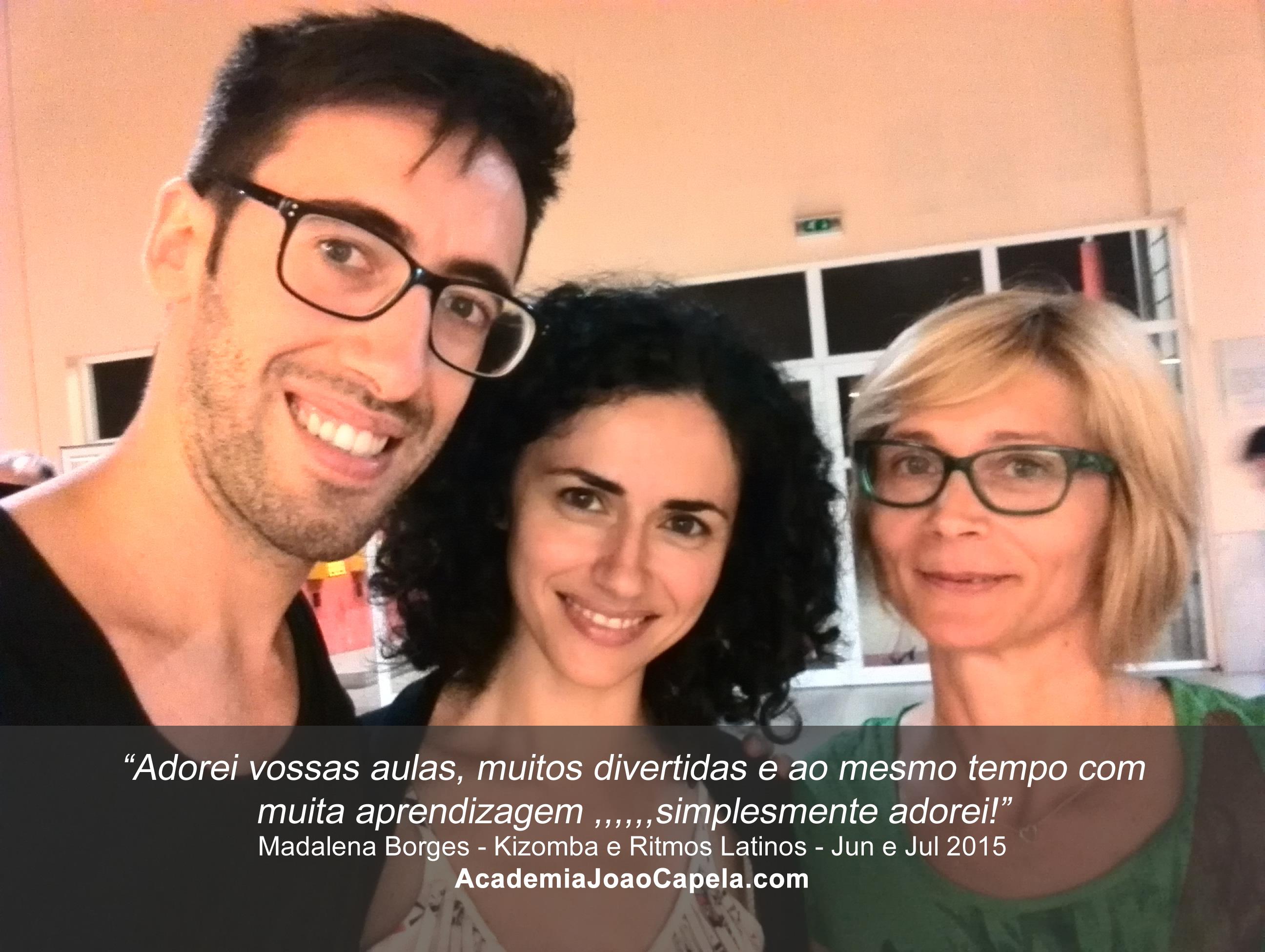 Testemunho Madalena Borges - Aulas de Ritmos Latinos na Academia João Capela em Barcelos