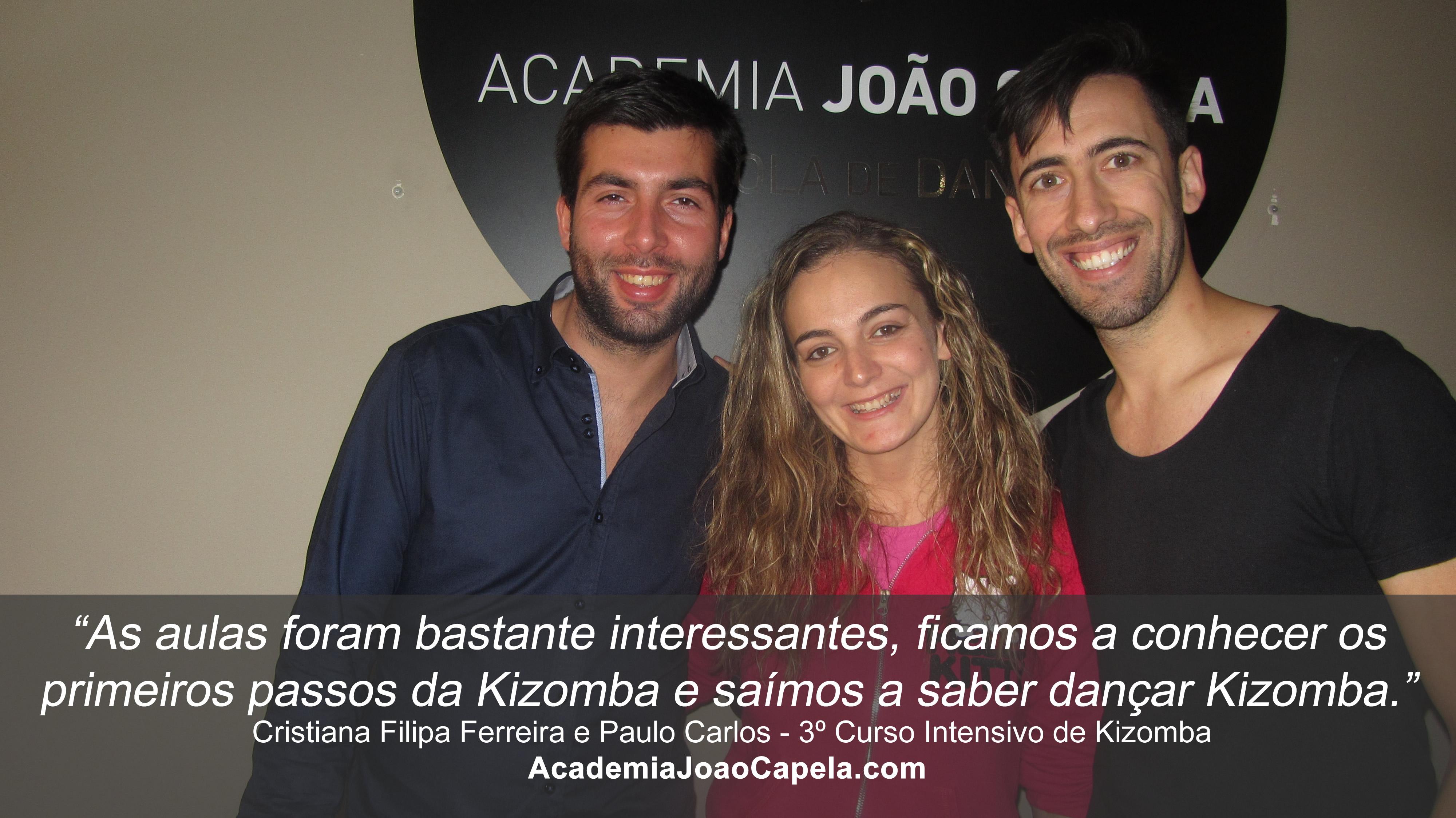 Testemunho Cristiana Filipa e Paulo 3º Curso Intensivo de Kizomba em Barcelos