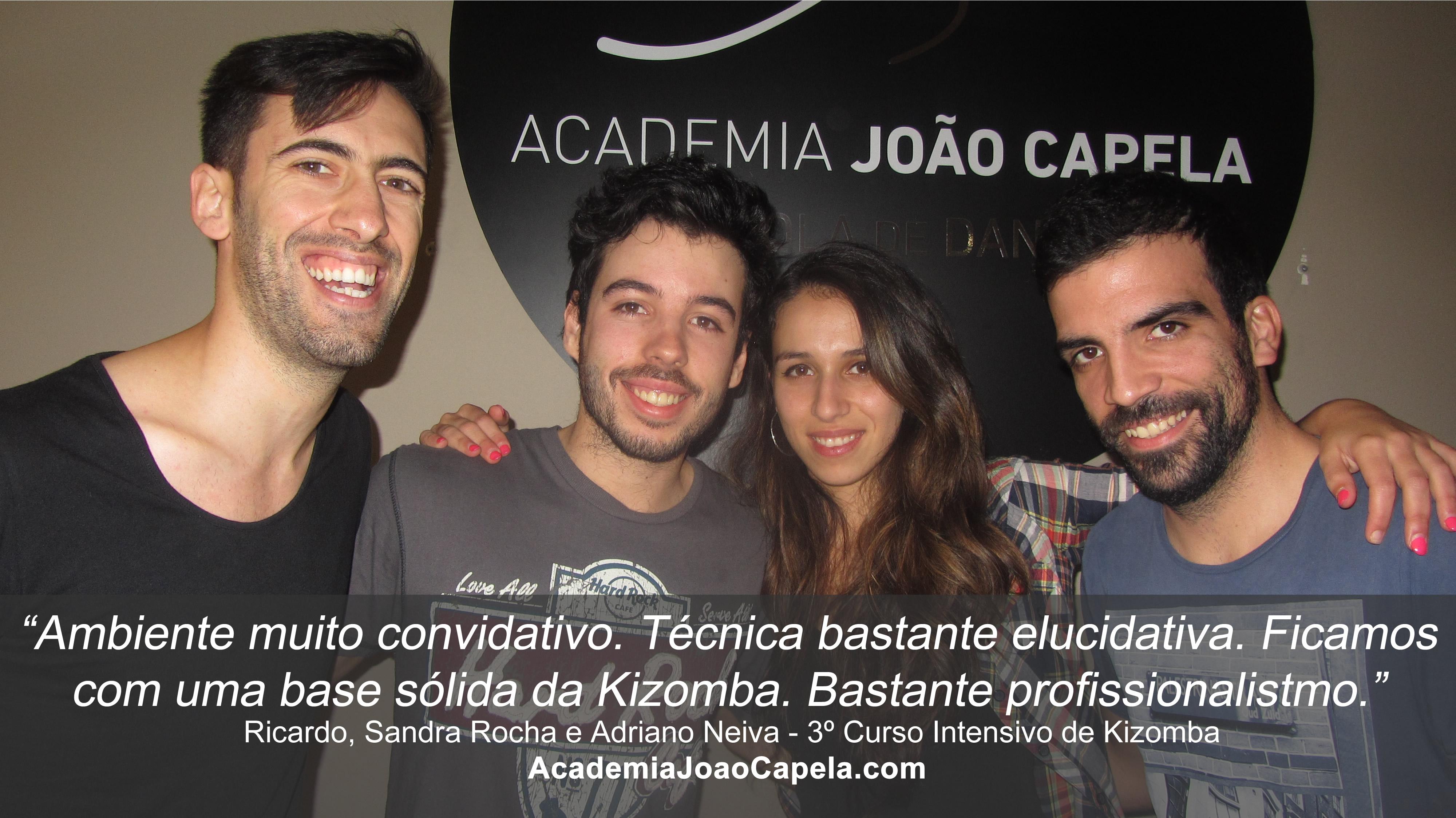 Testemunho Ricardo, Sandra e Adriano 3º Curso Intensivo de Kizomba em Barcelos