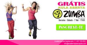 Website - Aula Aberta Zumba 7 Mai