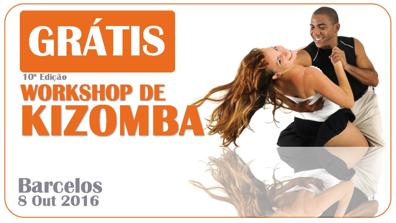 Workshop Grátis de Kizomba 8 Outubro em Barcelos