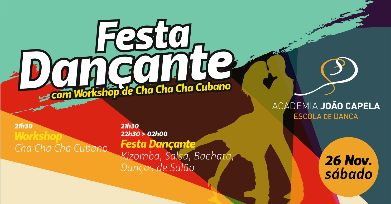 Festa Dançante Barcelos 26 Novembro Kizomba Salsa Bachata Danças de Salã